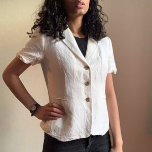 Tahari Suit Separates White Blazer